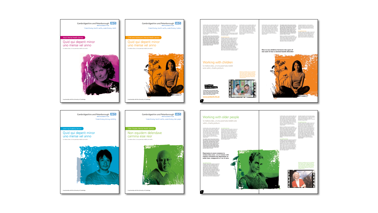 Brochure and reports covers and spreads