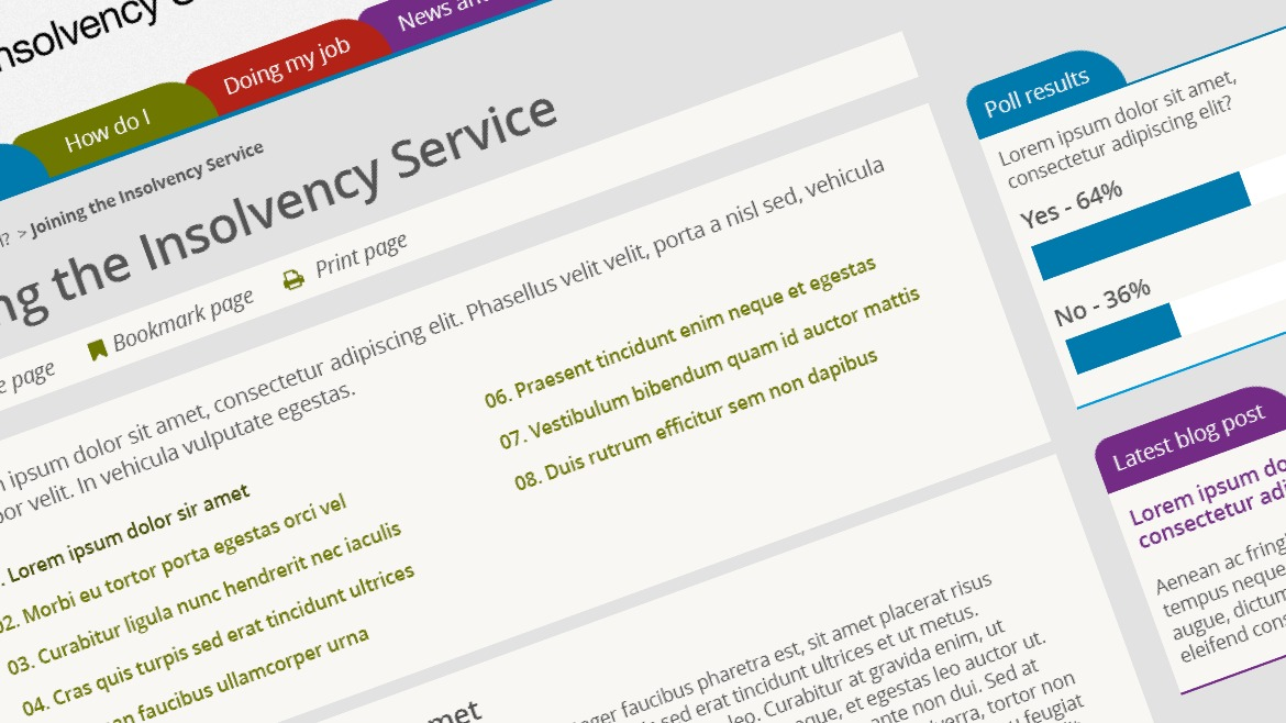 Insolvency Service intranet