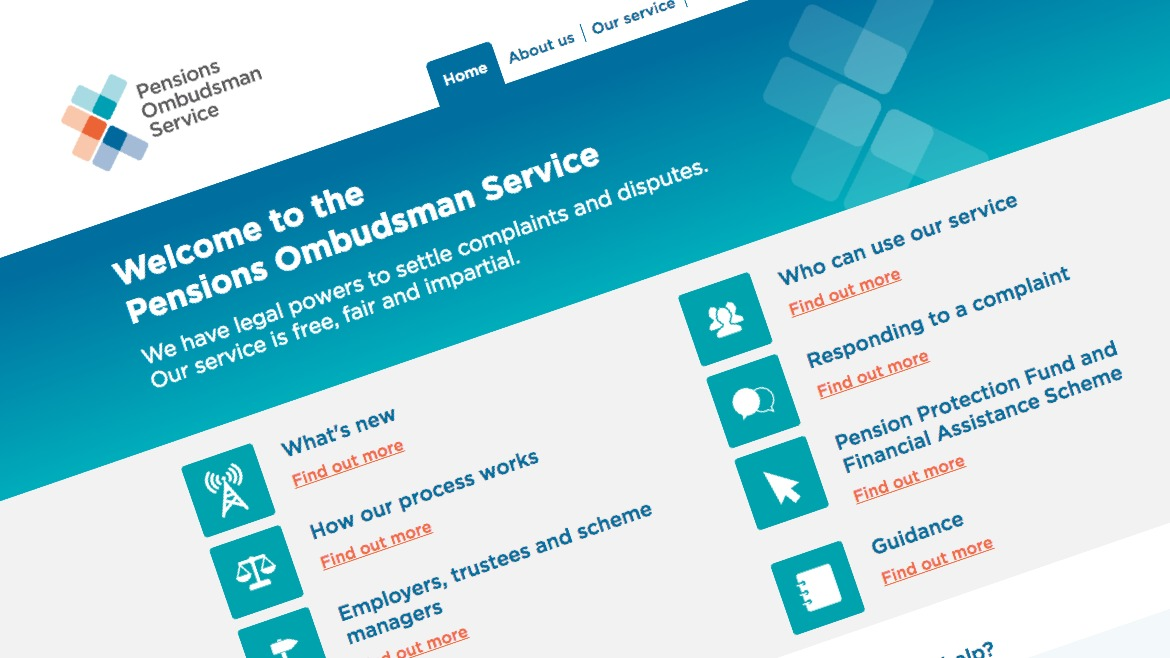 Pensions Ombudsman Service website